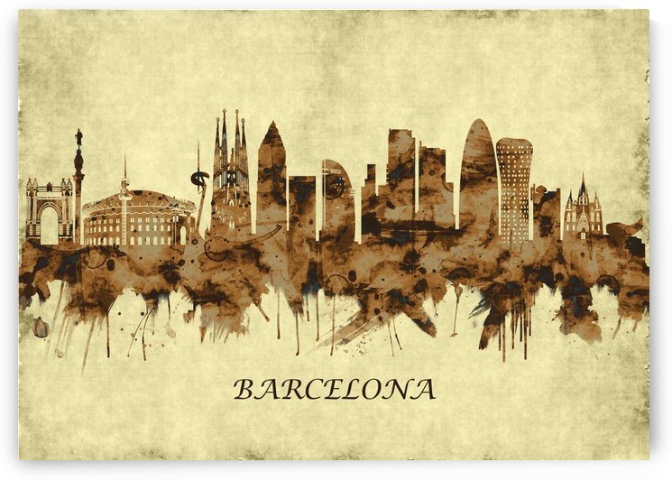 Barcelona Spain Cityscape by Towseef