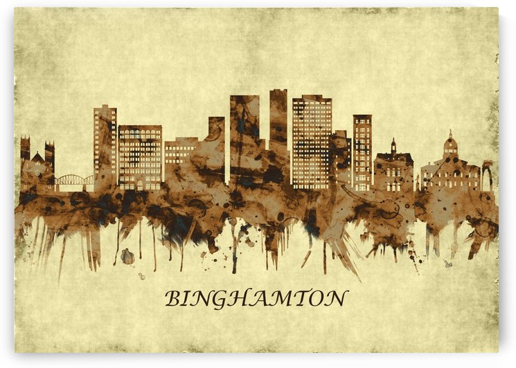 Binghamton New York Cityscape by Towseef
