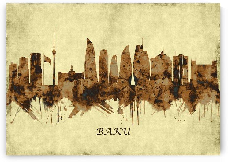 Baku Azerbaijan Cityscape by Towseef