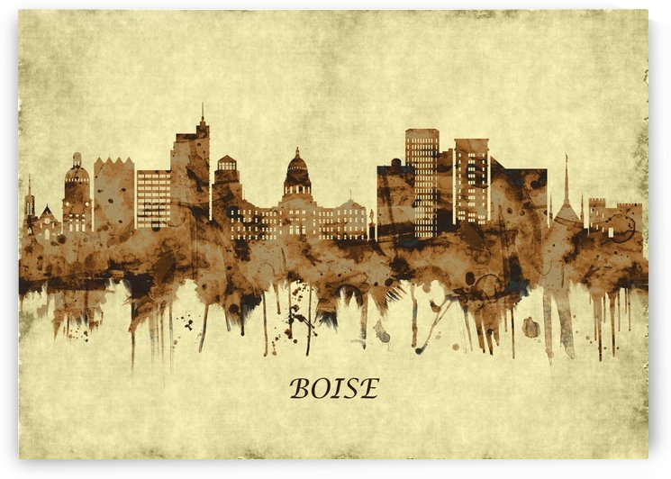 Boise Idaho Cityscape by Towseef