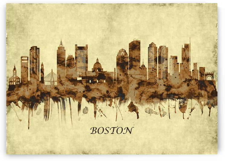 Boston Massachusetts Cityscape by Towseef