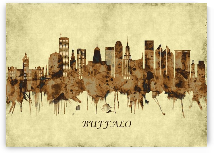Buffalo New York Cityscape by Towseef