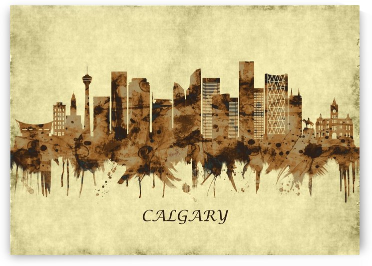 Calgary Canada Cityscape by Towseef