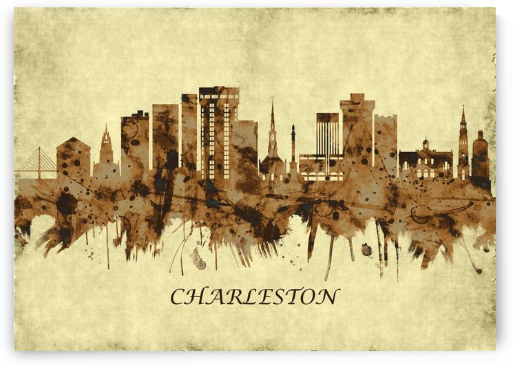 Charleston South Carolina Cityscape by Towseef