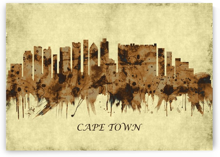 Cape Town South Africa Cityscape by Towseef
