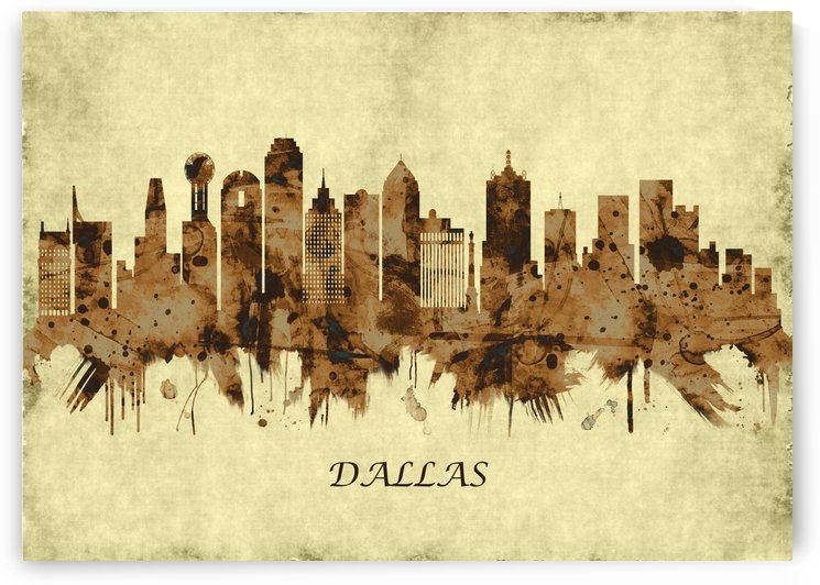 Dallas Texas Cityscape by Towseef