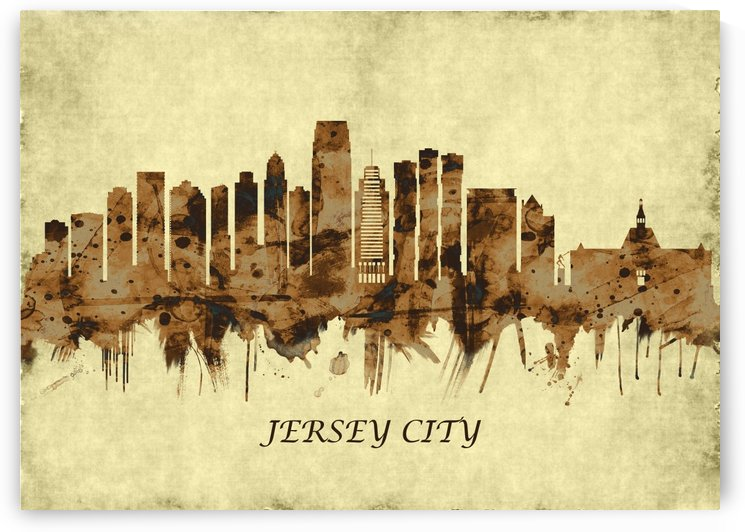 Jersey City New Jersey Cityscape by Towseef