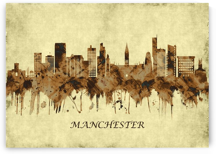 Manchester England Cityscape by Towseef Dar