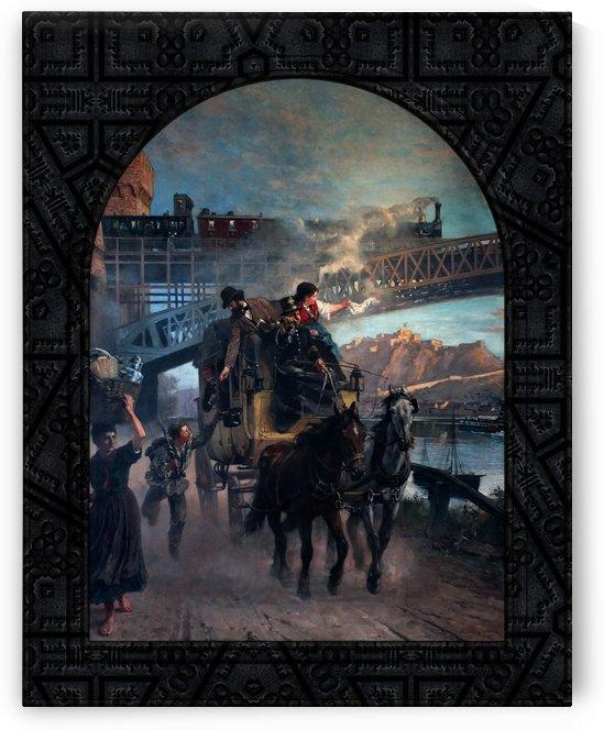 Railway Bridge by Paul Friedrich Meyerheim Old Masters Fine Art Reproduction by xzendor7
