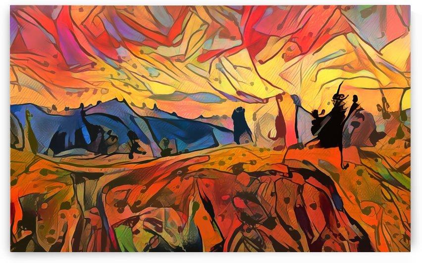 A.I. Mountainscape 3 by Al Kratzer