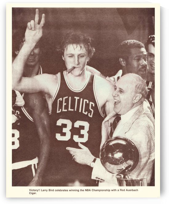 1981 Larry Bird Cigar Poster by Row One Brand