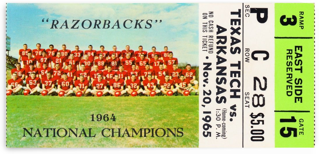 1965 Texas Tech vs. Arkansas by Row One Brand