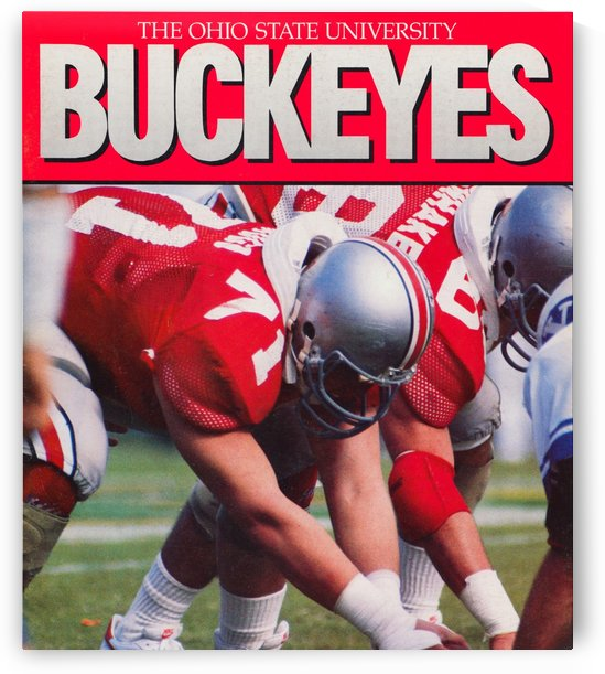 1986 ohio state buckeyes football art reproduction by Row One Brand