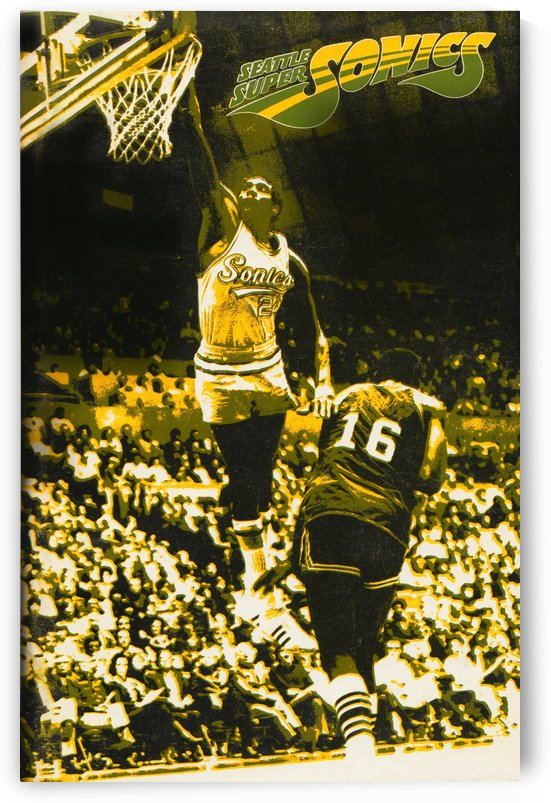 1972 Seattle Supersonics Art by Row One Brand