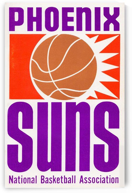 1970 phoenix suns nba art reproduction  by Row One Brand