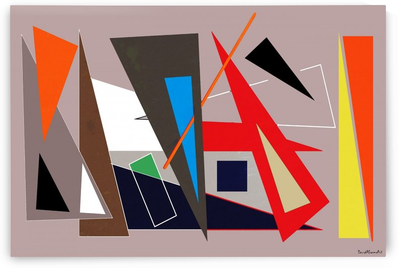 Mid-century geometric abstract 1 by David Abrams Art