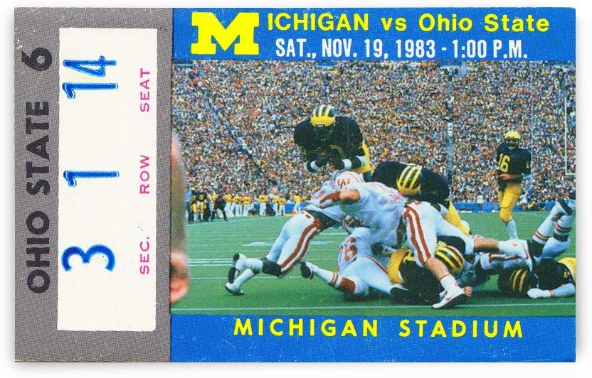 1983 michigan ohio state football ticket art by Row One Brand