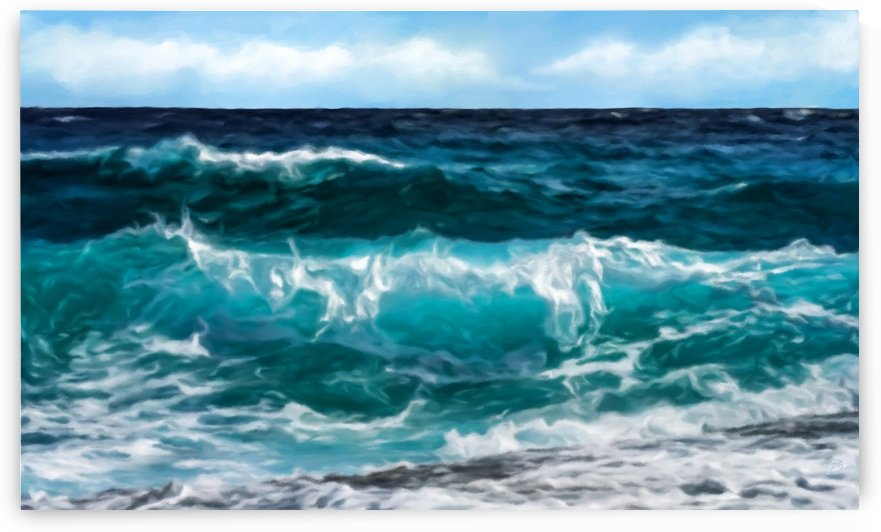 Ocean Waves by George Bloise