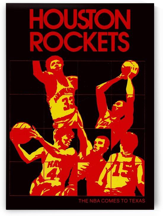 1971 houston rockets basketball art by Row One Brand