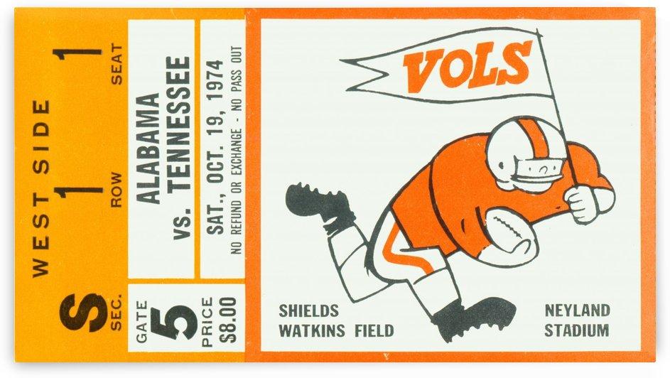 1974 Alabama vs. Tennessee by Row One Brand