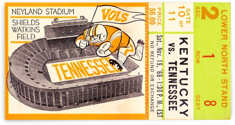 1966 Kentucky vs. Tennessee by Row One Brand
