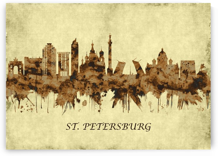 St. Petersburg Russia Cityscape by Towseef