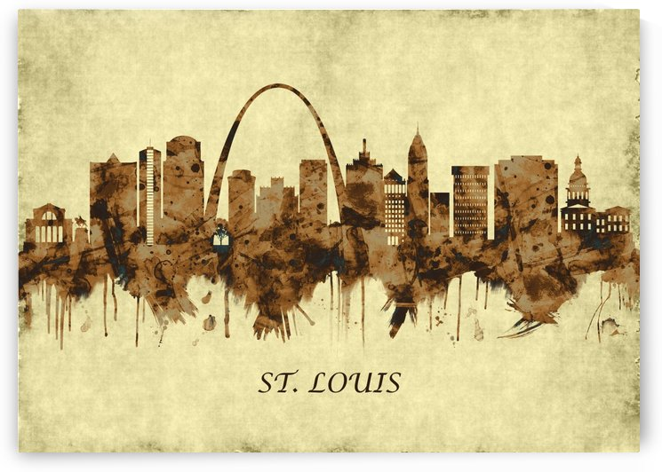 St. Louis Missouri Cityscape by Towseef