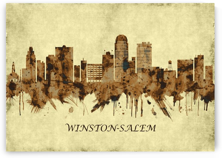 Winston-Salem North Carolina Cityscape by Towseef