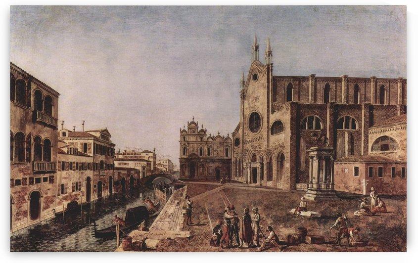 Campo santi Giovanni e Paolo, Venice by Michele Marieschi