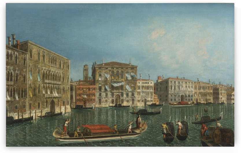 The Grand Canal, Venice, with Palazzo Foscari and Palazzo Balbi by Michele Marieschi