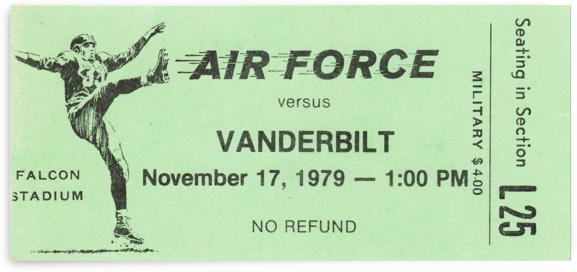 1979 Vanderbilt vs. Air Force by Row One Brand