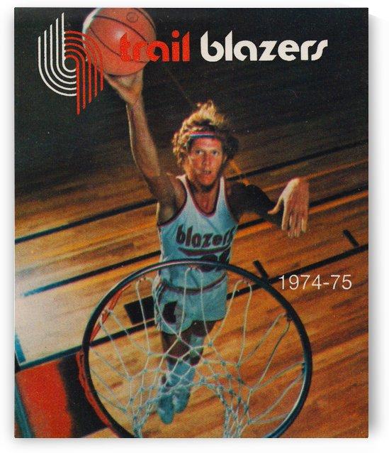 1974 bill walton portland trailblazers basketball print by Row One Brand