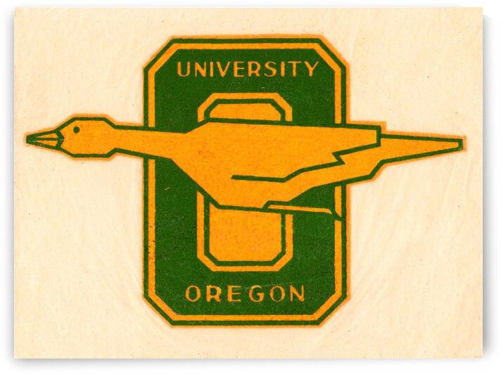 Thirties Vintage Oregon Duck Vintage Art by Row One Brand