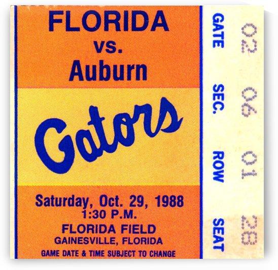 1988_College_Football_Auburn vs. Florida_Florida Field Ticket Art by Row One Brand