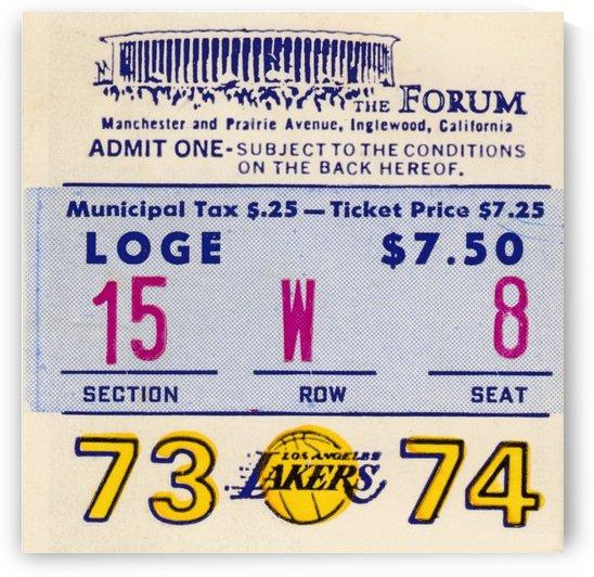 1973_National Basketball Association_Boston Celtics vs. Los Angeles Lakers_row one brand by Row One Brand