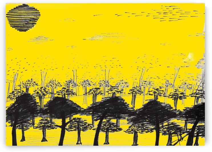 Trees vs sun by Oletydraw