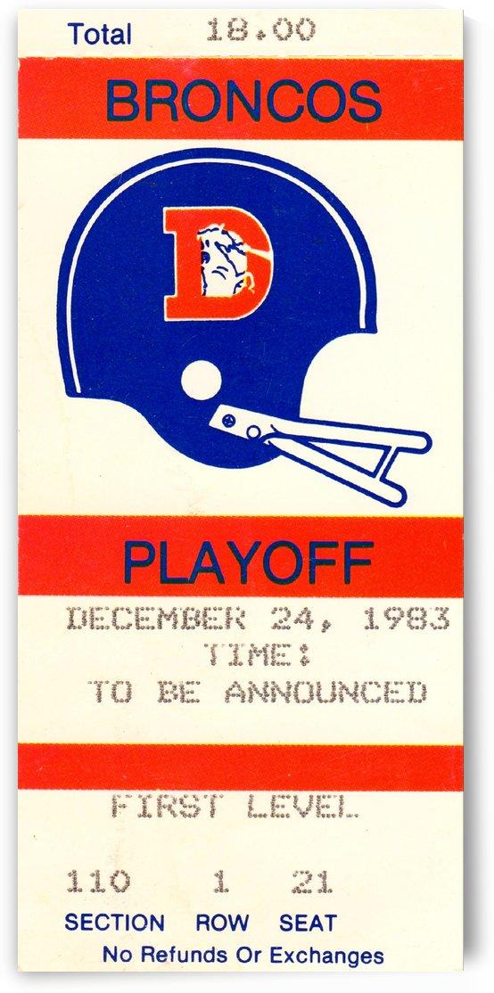 1983_National Football League_Denver Broncos_Football Playoff_Row One by Row One Brand