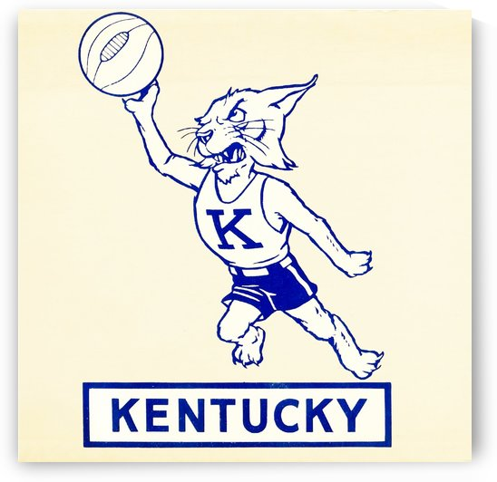 kentucky wildcats vintage basketball art by Row One Brand