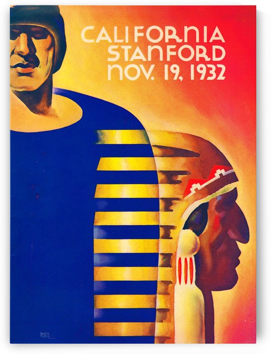 1932 California vs. Stanford by Row One Brand