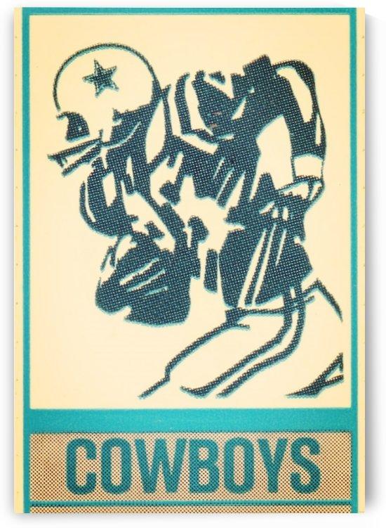 1981 dallas cowboys retro football art by Row One Brand
