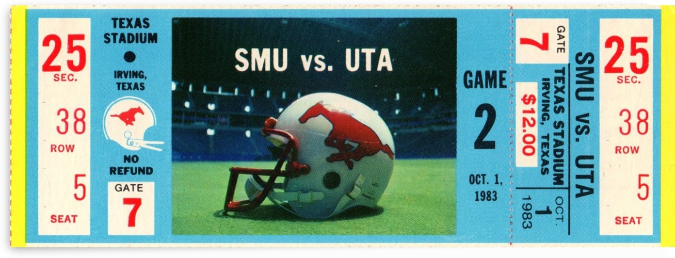 1983_College_Football_SMU vs. UTA_Texas Stadium_Dallas by Row One Brand