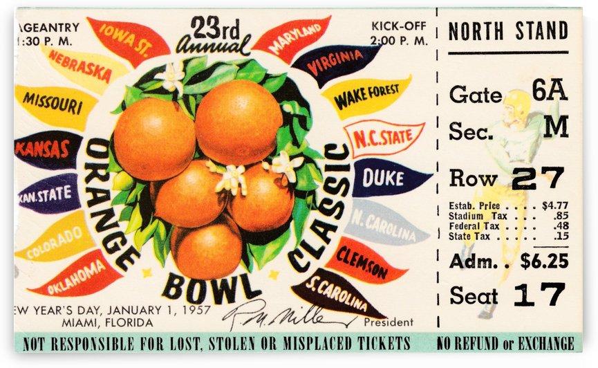 1957_College_Football_Orange Bowl_Clemson vs. Colorado_Orange Bowl Stadium by Row One Brand