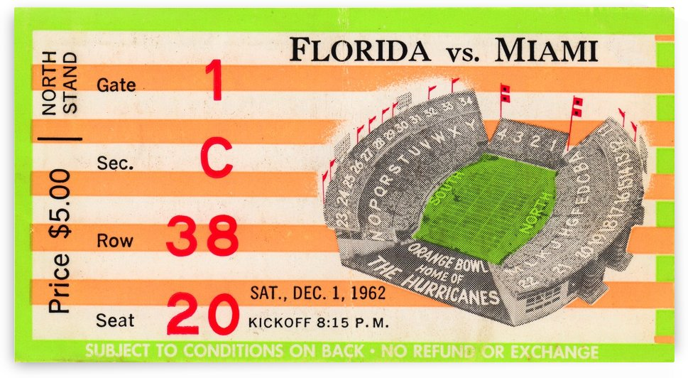 1962 Miami vs. Florida  by Row One Brand