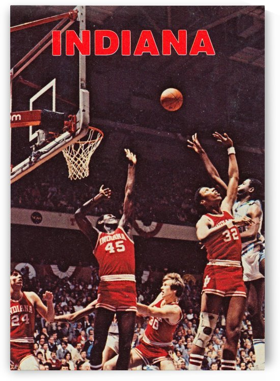 1981 indiana hoosiers basketball poster by Row One Brand