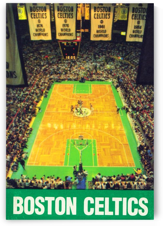 1988 Boston Celtics Boston Garden Art by Row One Brand