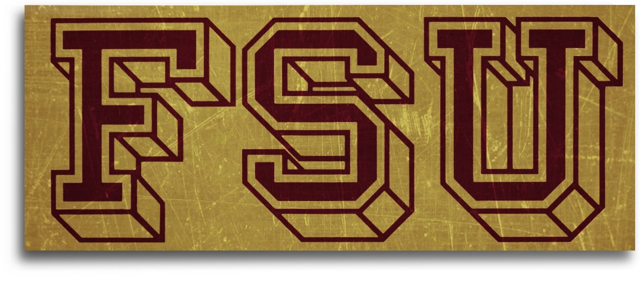 1950s Florida State University Art FSU by Row One Brand