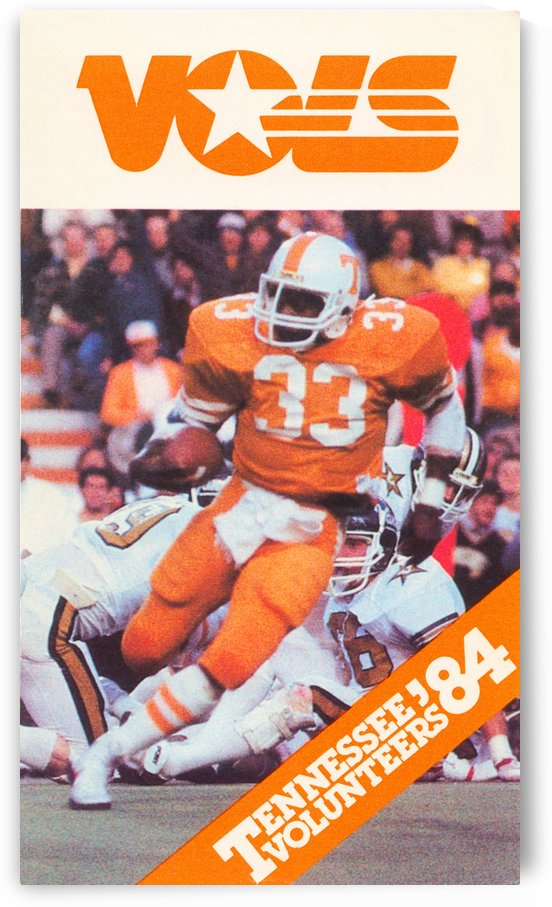 1984 tennessee vols college football poster by Row One Brand