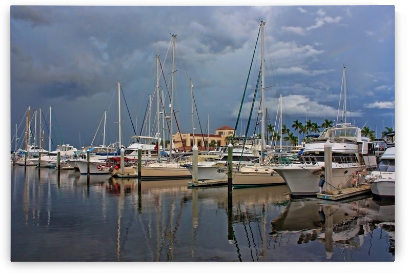 Stormy Weather Over Downtown  by HH Photography of Florida