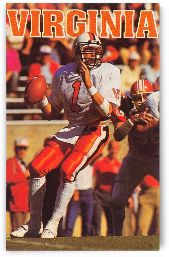 1986 virginia cavaliers football poster by Row One Brand