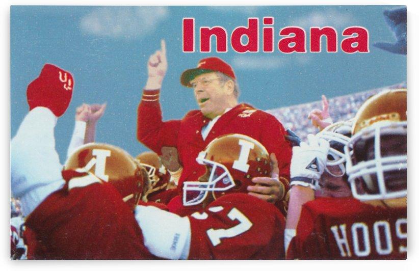 1987 indiana hoosiers iu football wall art by Row One Brand